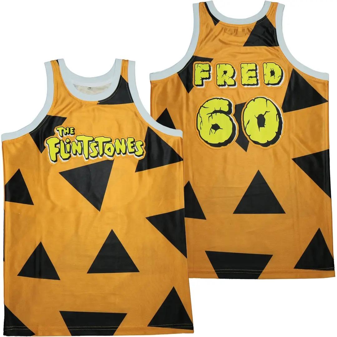 Fred The Flintstones 60 Basketball Jersey 1