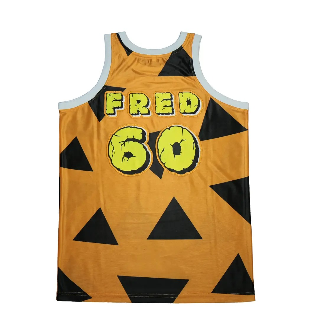 Fred The Flintstones 60 Basketball Jersey 3