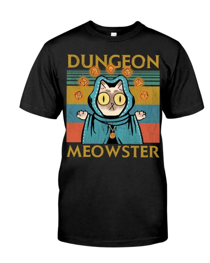 Game Dungeon Meowster vintage men shirt