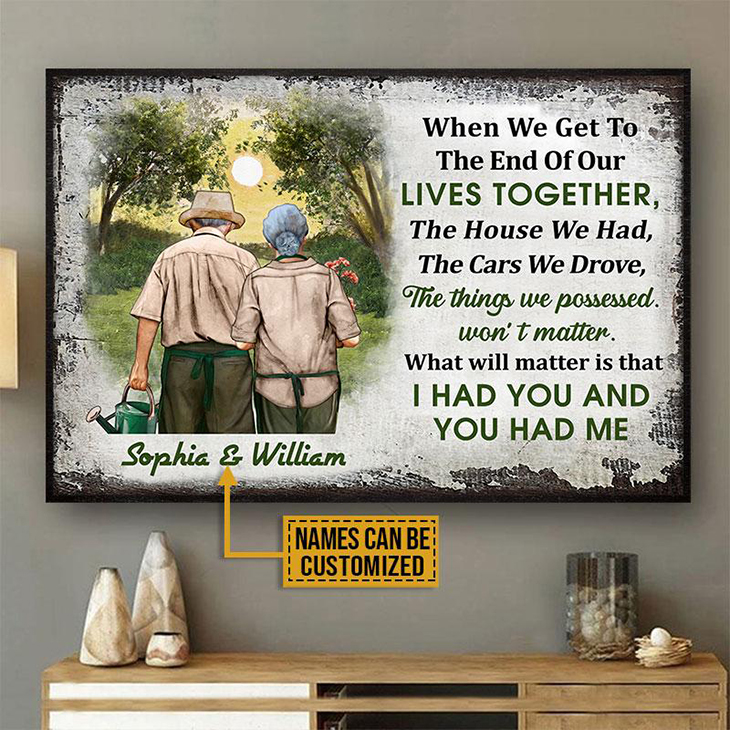 Gardening Old Couple Husband Wife When We Get Custom Poster