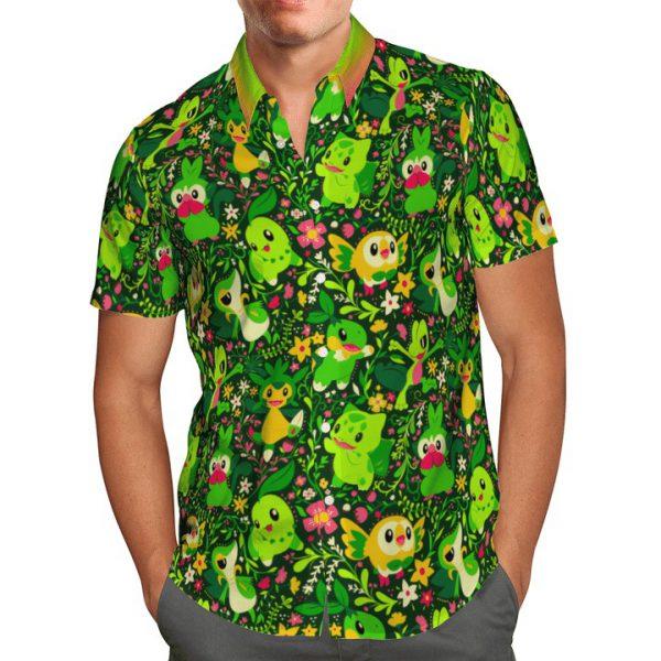 Grass Pokemon Hawaiian Shirt1