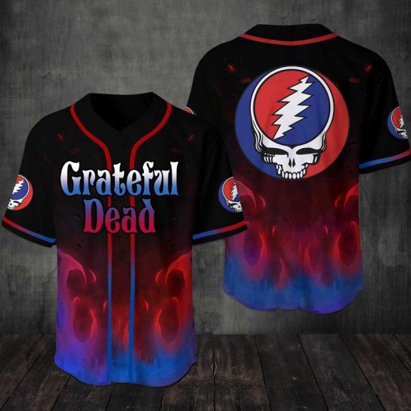 Grateful Dead Baseball Jersey Shirt