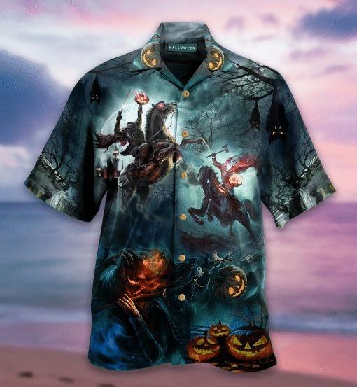 Halloween Headless Knight Hawaiian Shirt