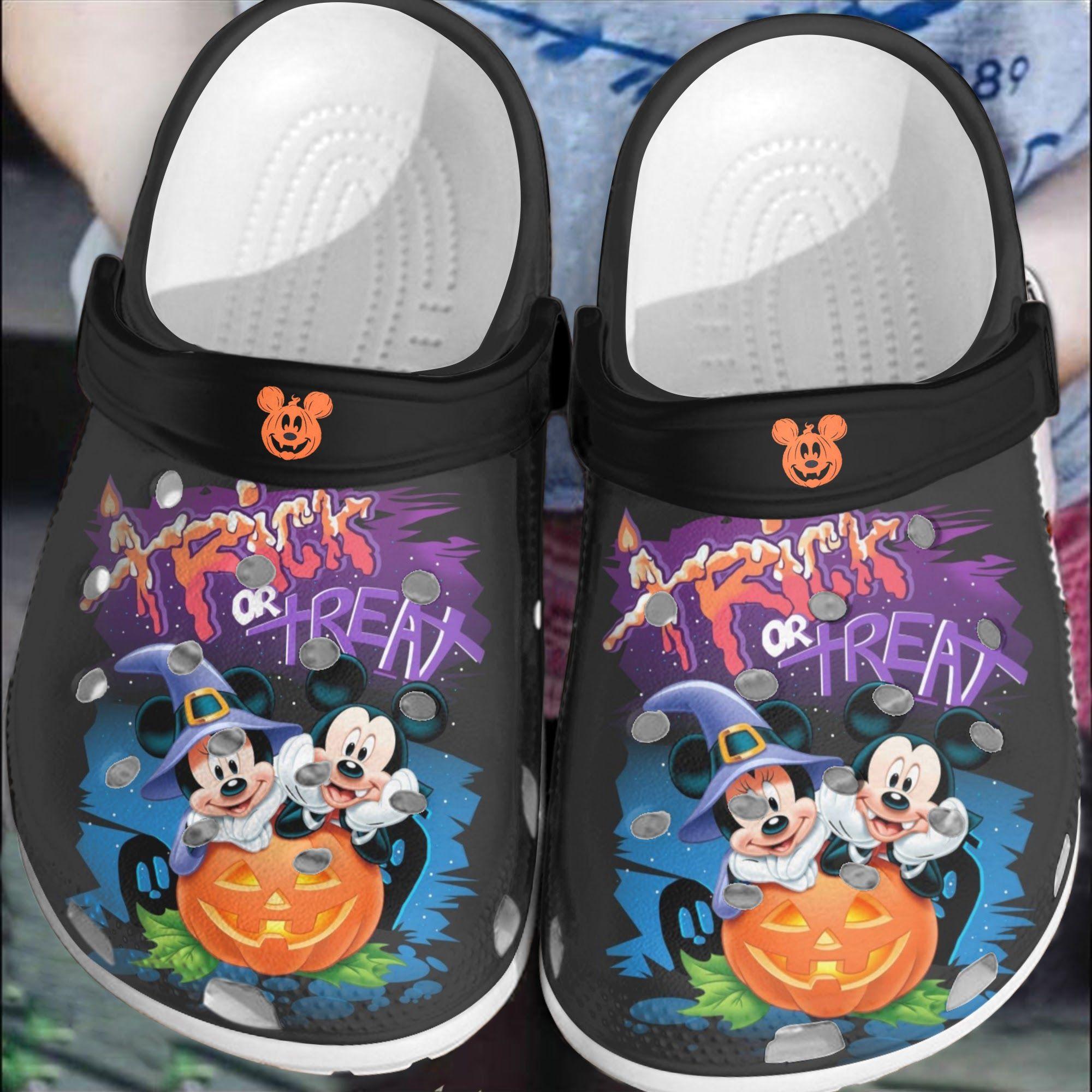 Halloween Mickey and Minnie crocs crocband clog