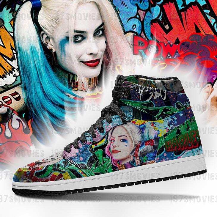 Harley Quinn JD Sneakers Custom Shoes