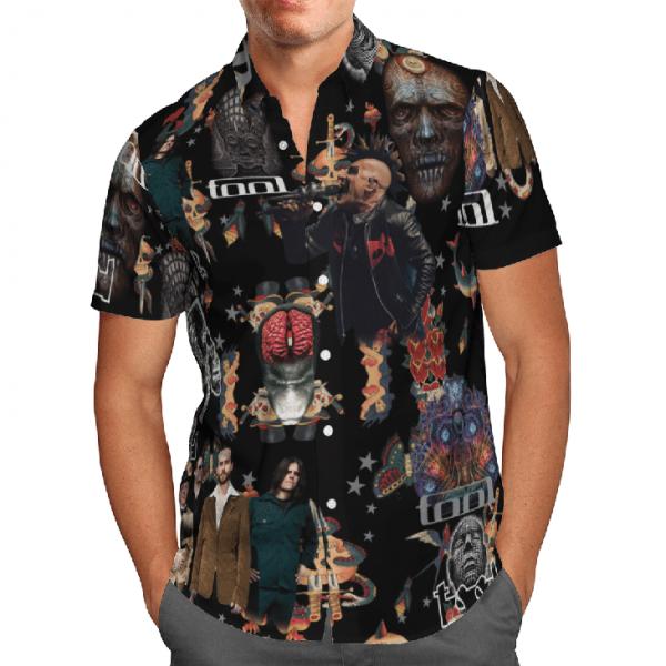 Hot Tool Band Nv Vintege Hawaiian Shirt1