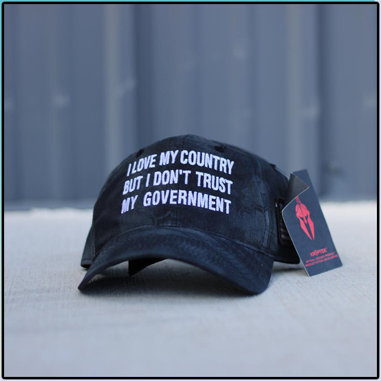 I Love My Country But I Dont Trust My Government Hat Cap1