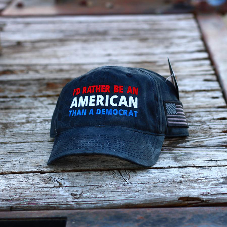 Id Rather Be An American Than A Democrat Hat Cap