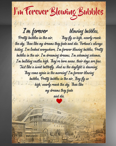 I'm forever blowing bubbles Poster