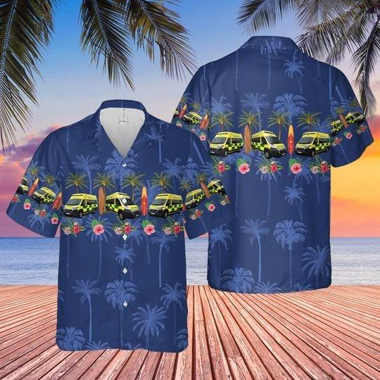 UK NHS ambulance hawaiian shirt