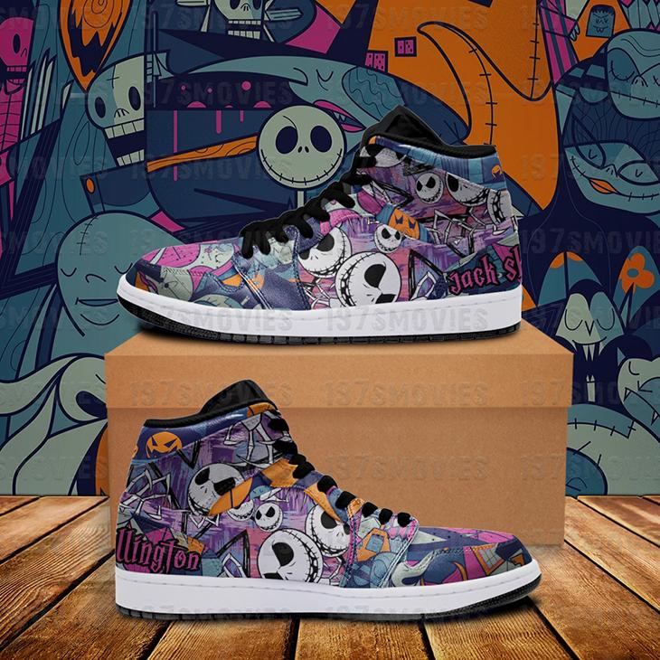Jack Skellington The Nightmare Before Christmas JD Sneakers Custom Shoes1