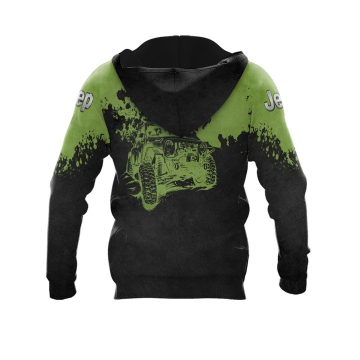 Jeep wrangler punisher skull 3d over print hoodie 2