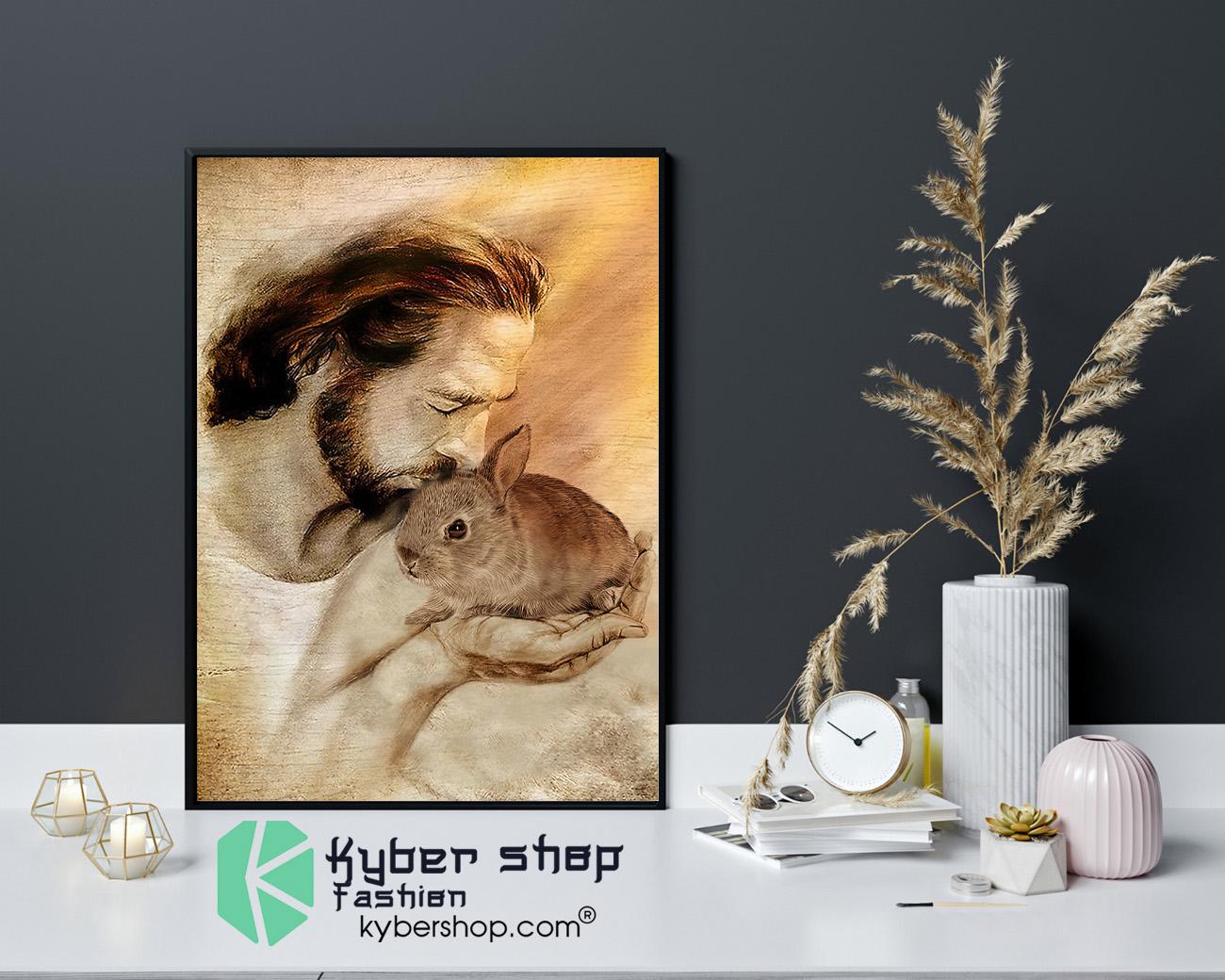 Jesus with Rabbit poster 4