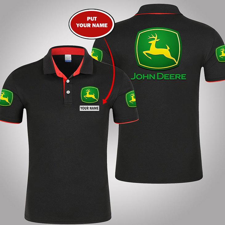 John Deere Custom Name Polo Shirt