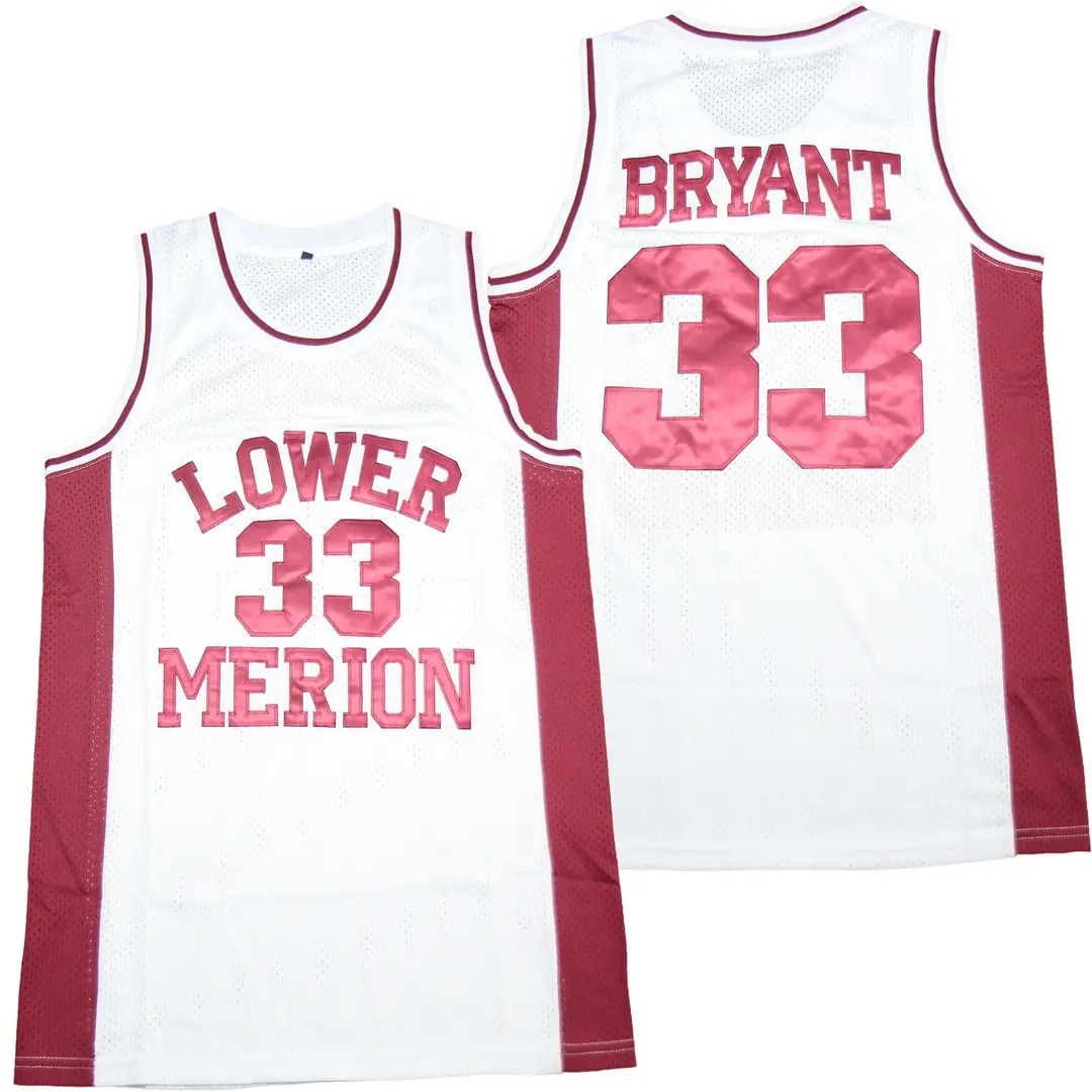 Kobe Bryant 33 Lower Merion High ScHool Basketball Jersey • Kybershop
