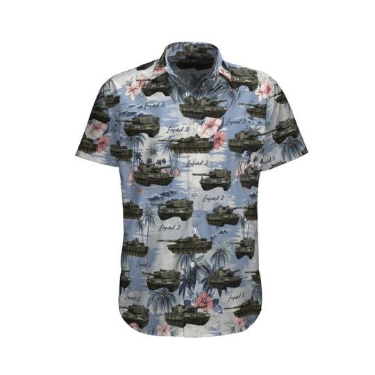 Leopard 2 germany hawaiian shirt and short 1