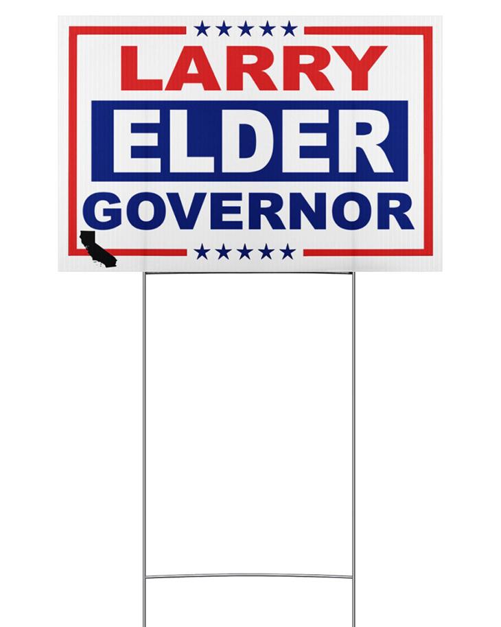 Larry Elder Governor Yard Sign