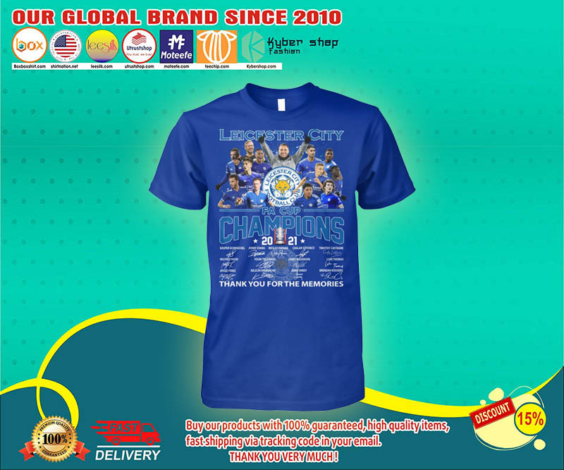 Leicester city FA cup champions 2021 shirt 4