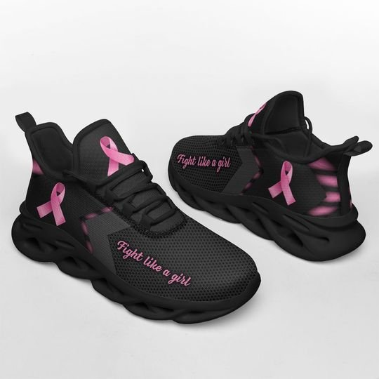 Breast Cancel Awareness fight like a girl max soul clunky shoes 2