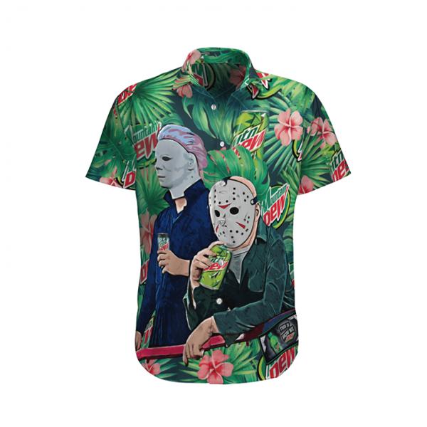 Michael Myers And Jason Voorhees Hawaiian Shirt