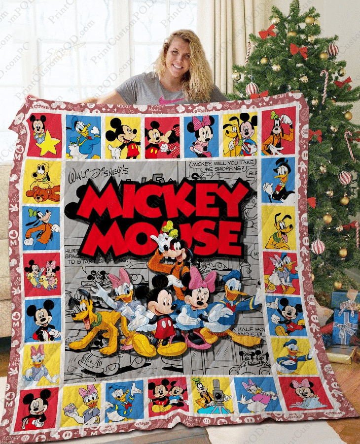 Mickey Mouse Quilt Bedding Set