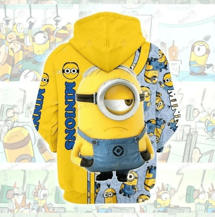 Minions 3d all over print hoodie 3 1