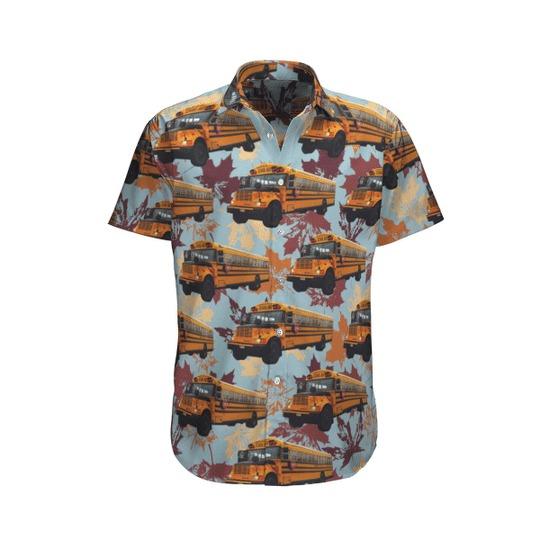 Cnadian school bus hawaiian shirt 1