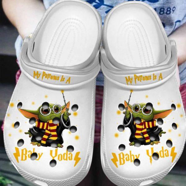 My Patronus Is A Baby Yoda Crocs Crocband shoes