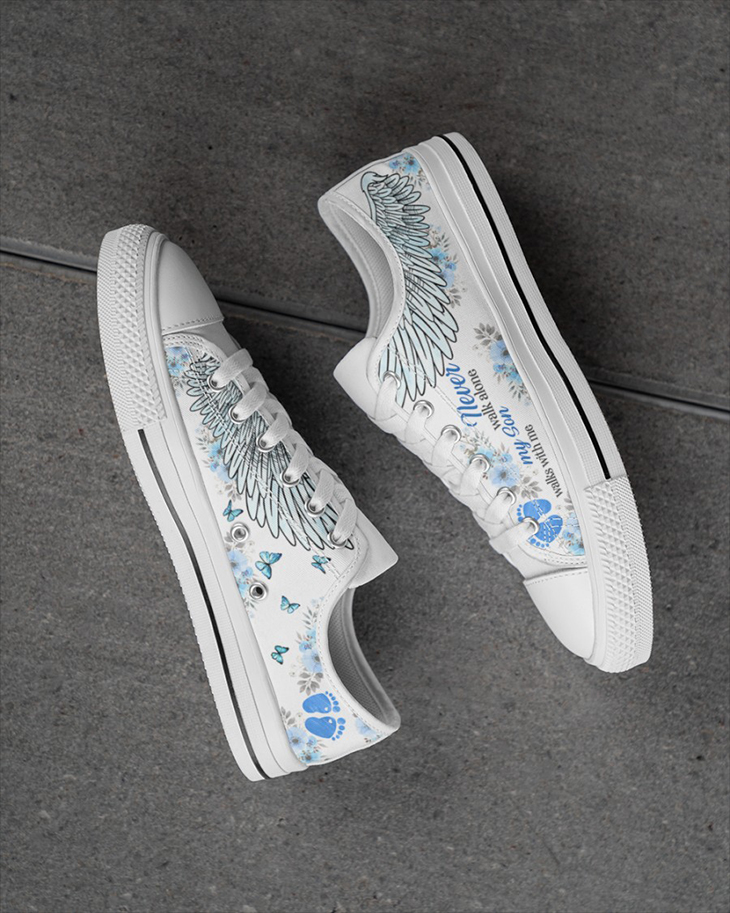 My Son Walks With Me Mens Low Top White Shoes1