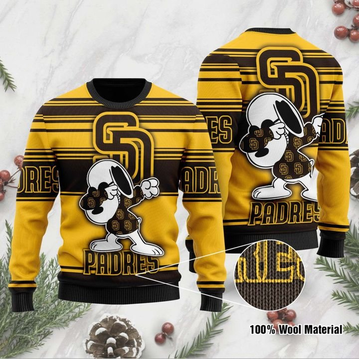 Snoopy San Diego Padres Ugly Christmas Sweater 1