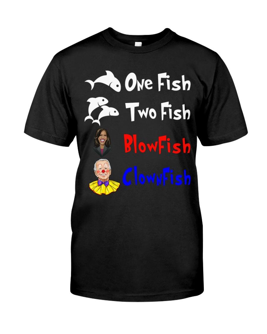 Nancy Pelosi Clown Biden One Fish Two Fish BlowFish ClownFish Shirt 1