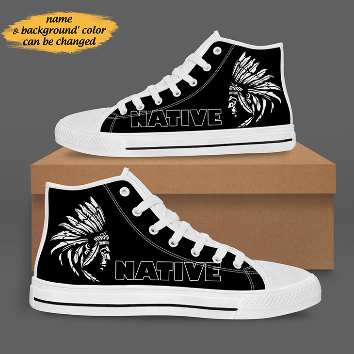 Native American high Top Shoes