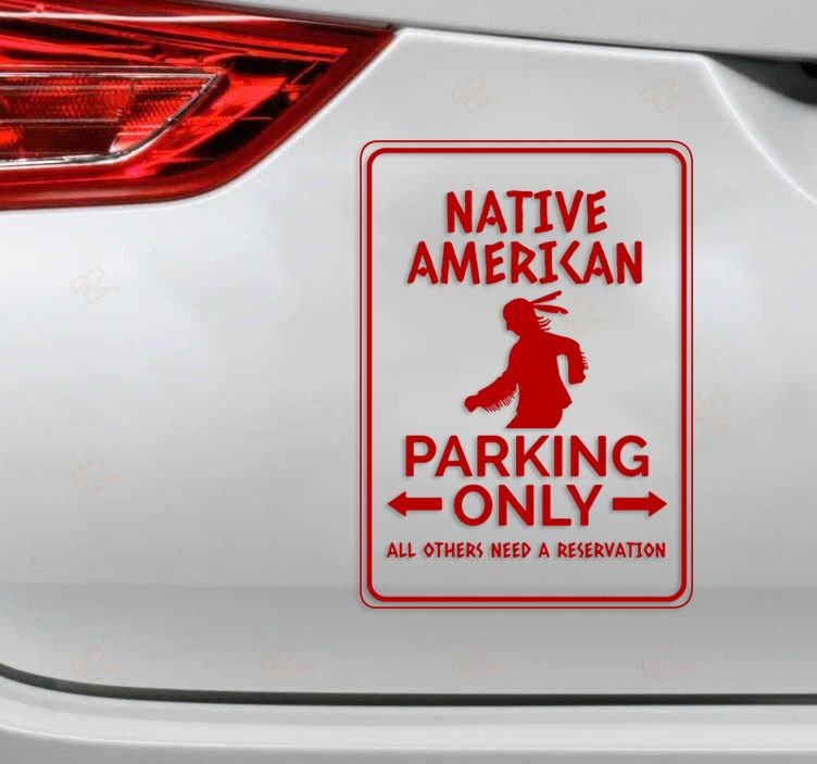 Native American park only decal 2
