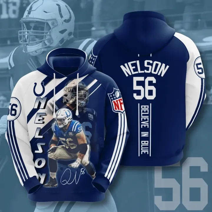 Nelson 56 Indianapolis colts hoodie 1