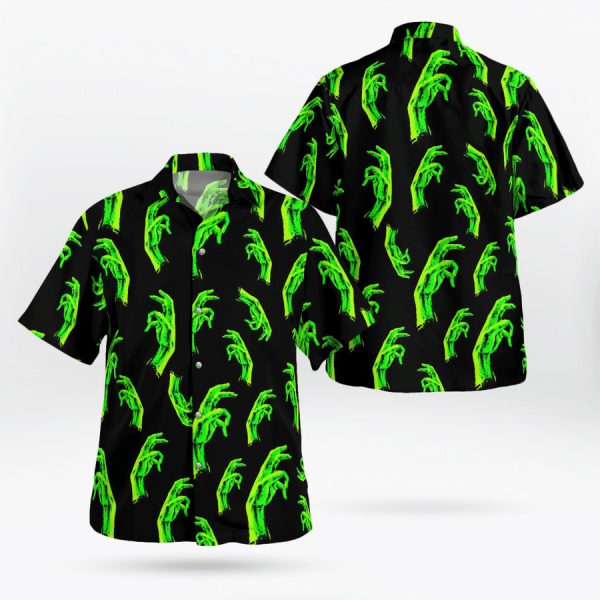 Night Of The Living Dead Horror Movie Hawaiian Shirt