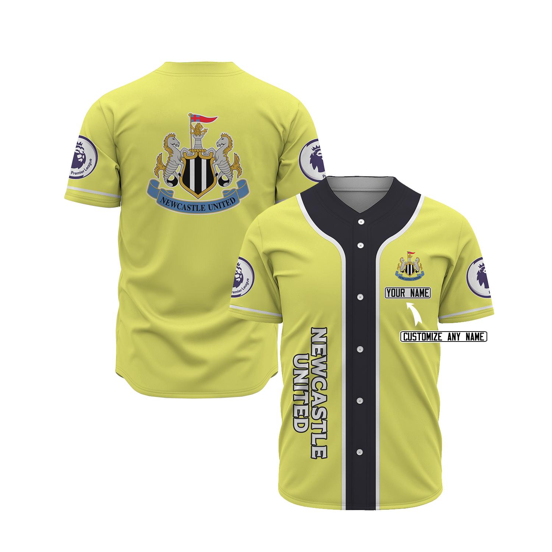 Newcastle United custom pesonalized name baseball jersey 21