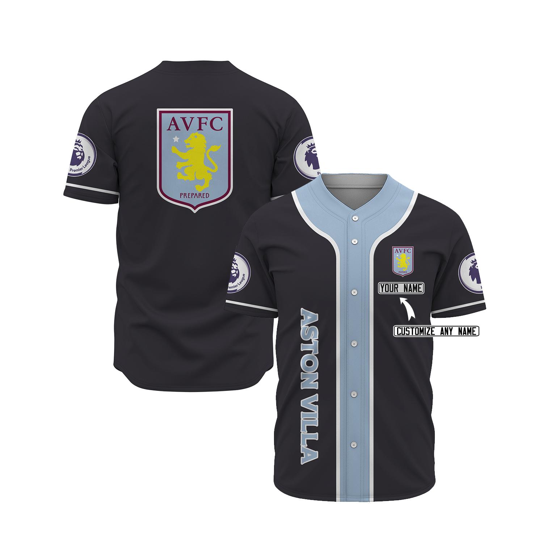 Aston villa custom personalized name baseball jersey 1
