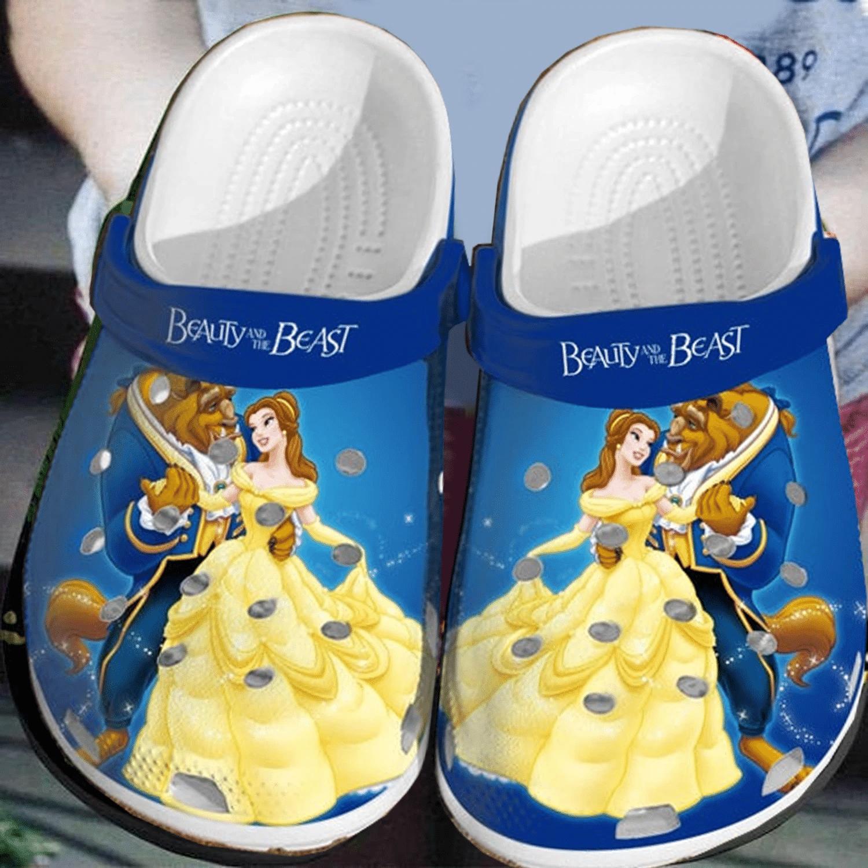 Beauty and the Beast crocs crocband shoes