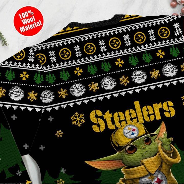 Baby Yoda Pittsburgh Steelers ugly sweater 2