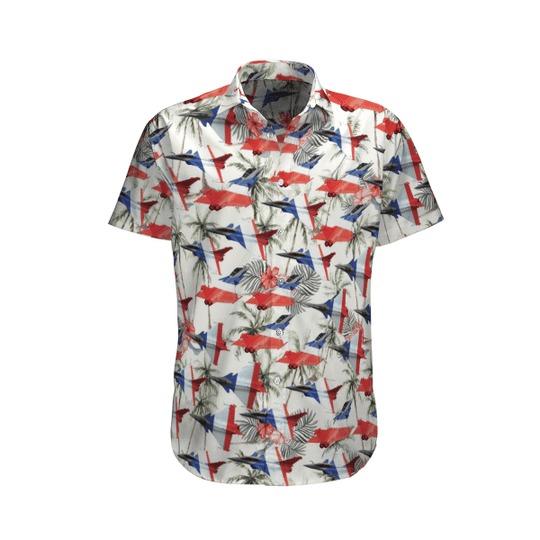 Rafale solo display hawaiian shirt 1