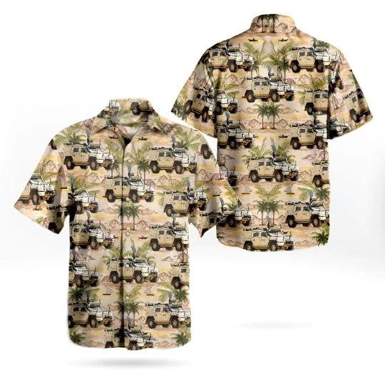 Norwegian army iveco LMV hawaiian shirt 1