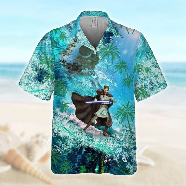 Obi Wan Surfing Hawaiian Shirt
