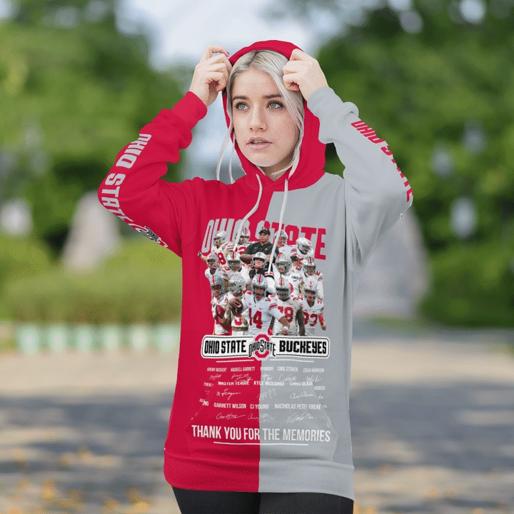 Ohio state buckeyes thank for the memories 3d hoodie 3