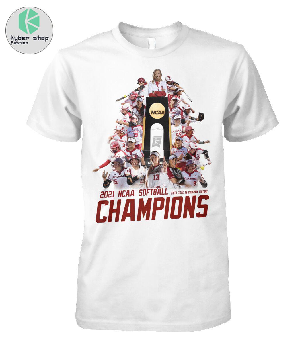 Oklahoma Sooners 2021 NCAA softball champions shirt 2