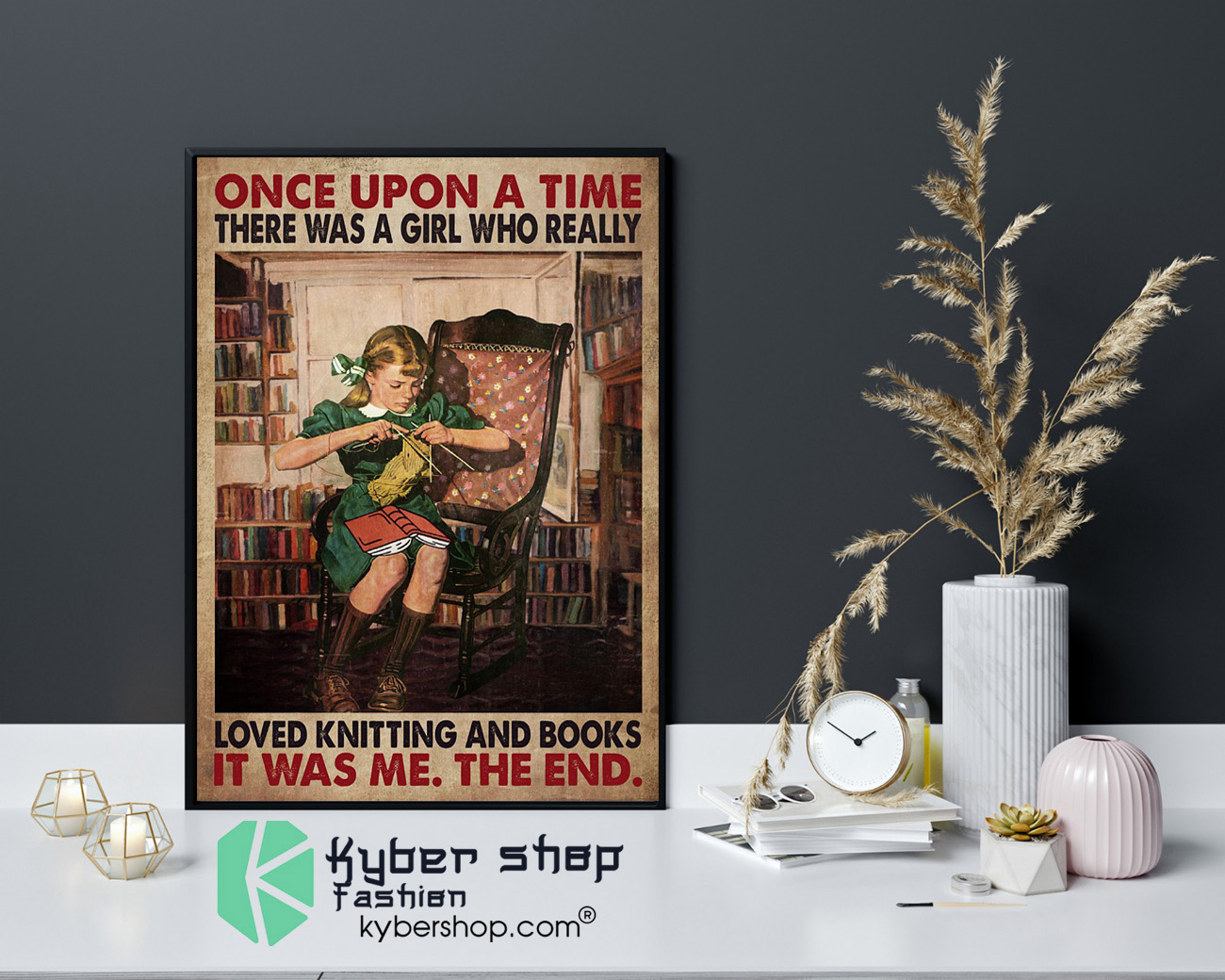 Once upon a time there was a girl who really loved knitting and books poster 4