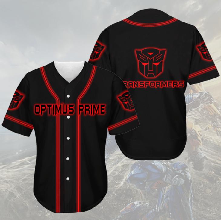 Optimus Prime Transformer Baseball Jersey Shirt