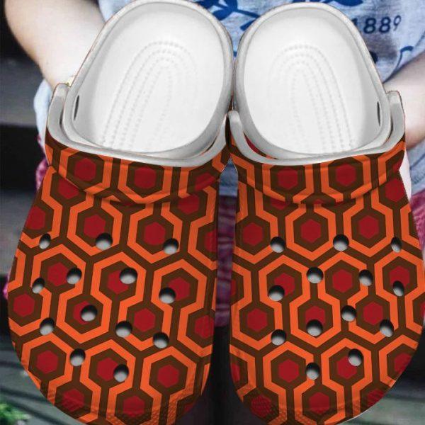 Overlook Hotel Rug Pattern Crocs Crocband shoes