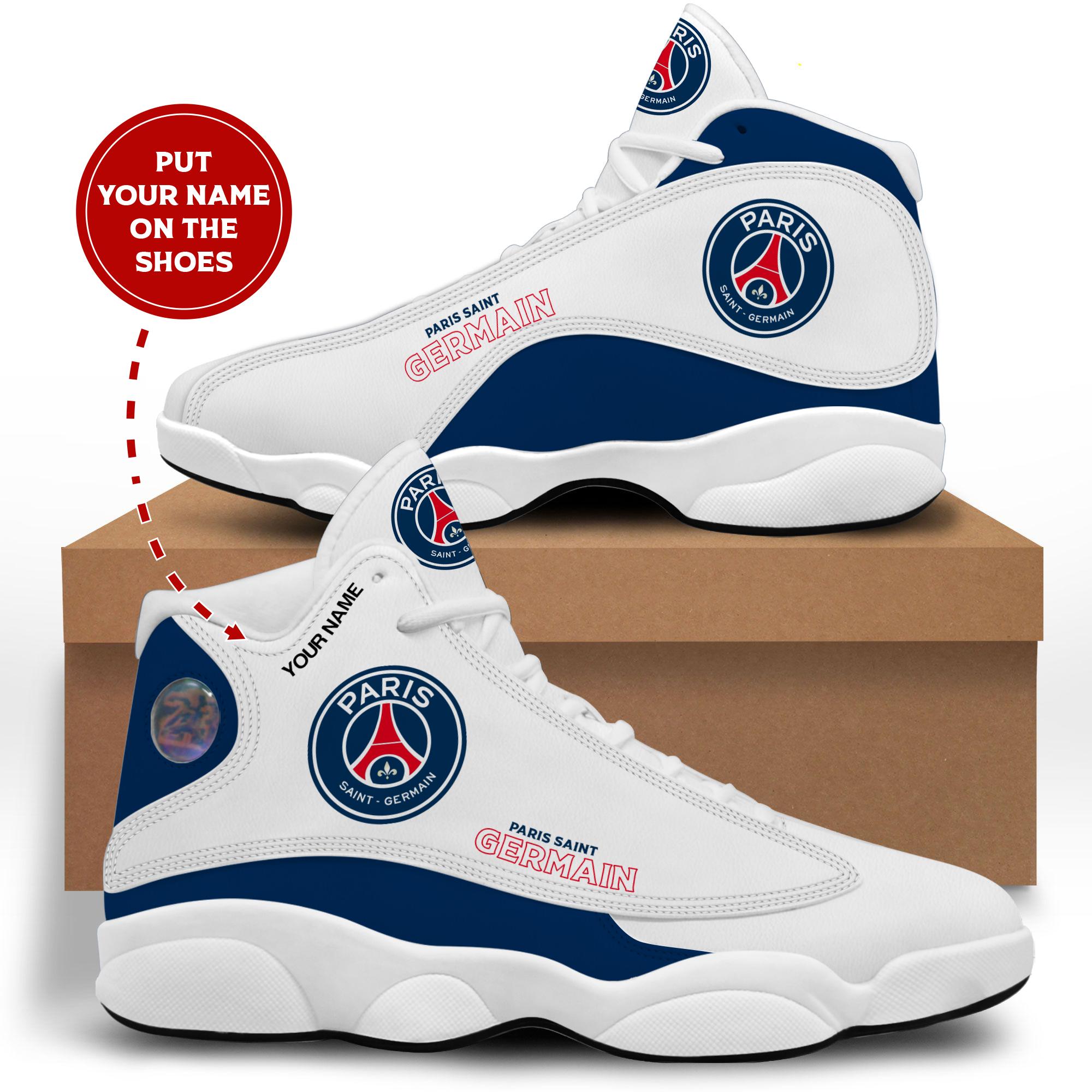 Paris Saint Germain custom name shoes air jordan high top 11