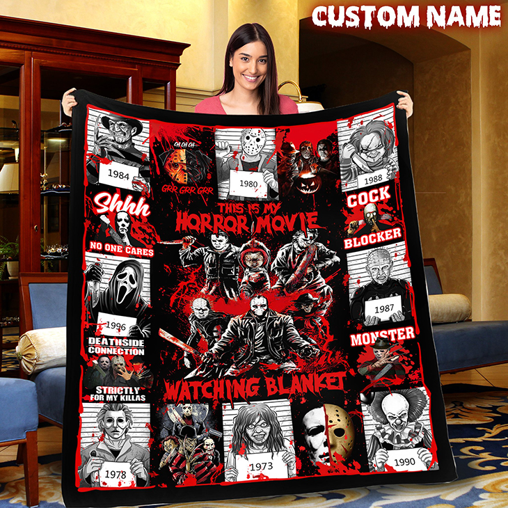 Personalized This Is My Horror Movie Watching Custom Blanket 1