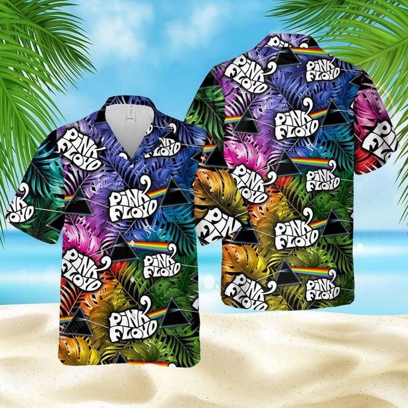 Pink floyd rock legend band hawaiian shirt 1 1